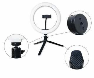 "24W Prstencová lampa, ring led light set 10"" 260mm"